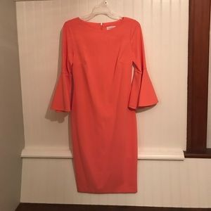 Calvin Klein peach dress size 4